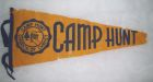 Camp Hunt pennant, a little worse for wear